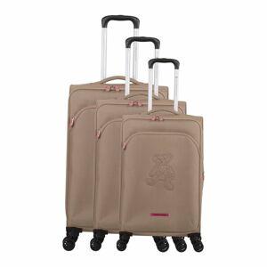 Sada 3 béžových zavazadel na 4 kolečkách Lulucastagnette Emilia