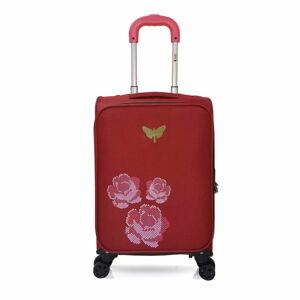Červené kabinové zavazadlo na 4 kolečkách LPB Joanna, 40l