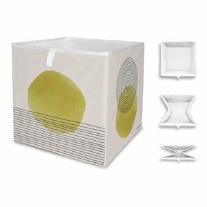 Béžovo-žlutý úložný box z mikrovlákna Butter Kings Rising,32l