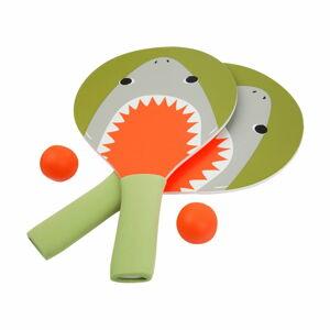 Set 2 pálek a míčků na stolní tenis Sunnylife Shark Attack