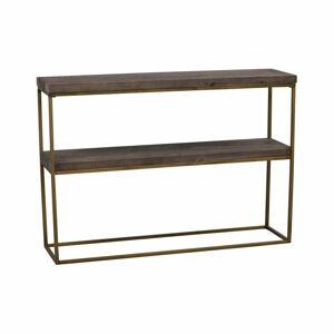 Černý dřevěný konzolový stolek Rowico Brogge