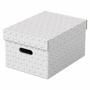 Sada 3 bílých úložných boxů Leitz Eselte,26,5x36,5cm