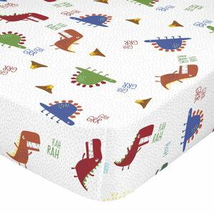Dětské bavlněné prostěradlo Moshi Moshi Funnysaurus,90x200cm