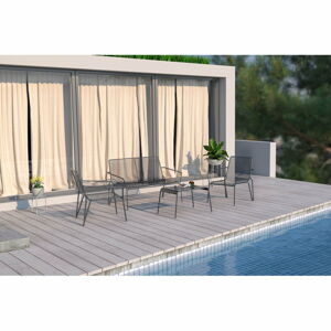 Šedý kovový set zahradního nábytku Ezeis Ambroise