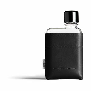 Černé pouzdro na placatku z imitace kůže Memobottle A7 Sleeve