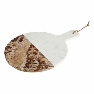 Bílo-béžové mramorové servírovací prkénko Premier Housewares Forest