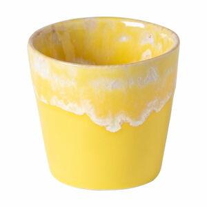 Žluto-bílý kameninový šálek na espresso Costa Nova, 90 ml