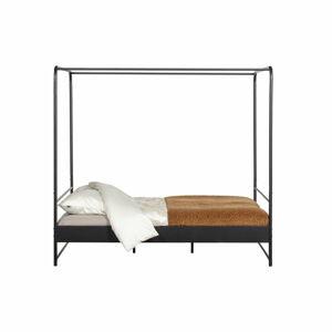 Černá dvoulůžková kovová postel vtwonen Bunk, 160 x 200 cm