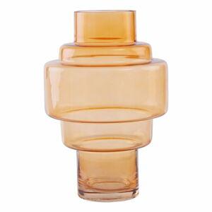 Oranžová skleněná váza Premier Housewares Cayden