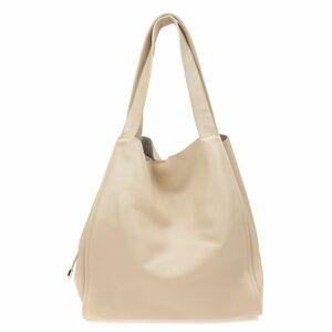 Béžová kožená kabelka Isabella Rhea, 54 x 38 cm