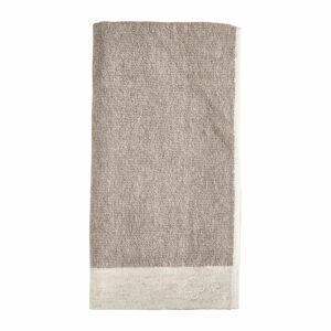 Hnědý ručník s příměsí lnu Zone Inu,100x50cm