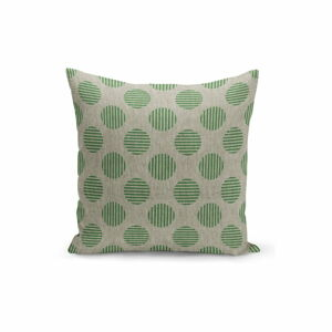 Zeleno-béžový povlak na polštář Kate Louise Dots,45x45cm
