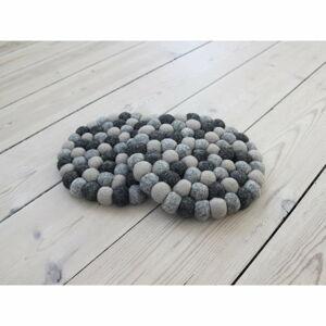 Tmavě šedý kuličkový podtácek z vlny Wooldot Ball Coaster, ⌀ 20 cm