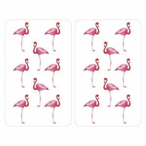Sada 2 skleněných krytů na sporák Wenko Flamingo