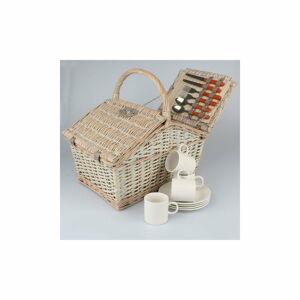 Proutěný piknikový košík pro 4 osoby Dakls Picnic