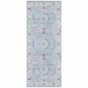 Světle modrý koberec Nouristan Gratia, 80 x 200 cm