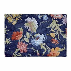 Modrá podložka do koupelny Madre Selva Garden, 60 x 40 cm