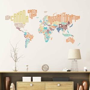 Nástěnná samolepka Ambiance World Map Modern