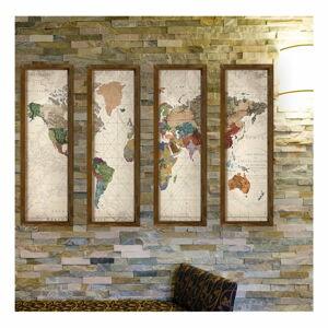 Dekorativní vícedílný obraz World, 19x70 cm