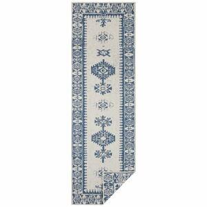 Modro-krémový venkovní koberec Bougari Duque, 80 x 350 cm