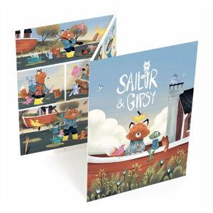 Komiks k dotvoření Djeco Sailor & Gipsy