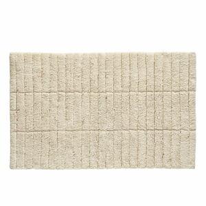 Béžová bavlněná koupelnová předložka Zone Tiles,80x50cm