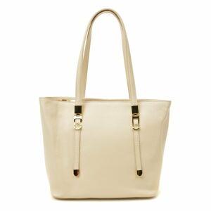 Béžová kožená kabelka Luisa Vannini, 35 x 26 cm