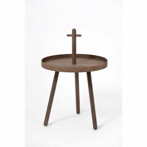 Odkládací stolek z ořechového dřeva Wireworks Pick Me Up,ø45cm