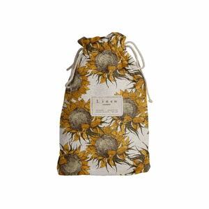 Cestovní vak s příměsí lnu Linen Couture Sunflower, délka 44 cm
