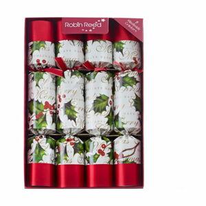 Sada 8 vánočních crackerů Robin Reed Bow & Berries