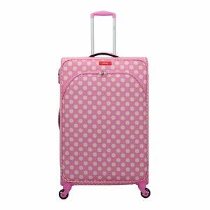 Růžové zavazadlo na 4 kolečkách Lollipops Jenny, výška 77cm