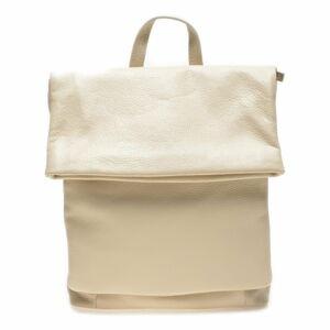 Béžový kožený batoh Isabella Rhea