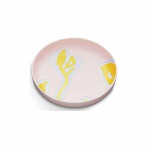 Růžový kameninový talíř Kähler Design Fiora, ⌀ 28 cm