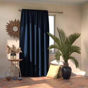 Tmavě modrý závěs AmeliaHome Indigo,140x245cm