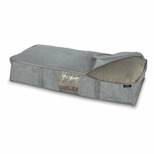Šedý úložný box pod postel Domopak Stone, 95x45cm