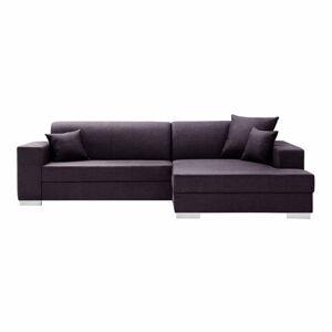 Švestkově fialová sedačka Interieur De Famille Paris Perle, pravý roh