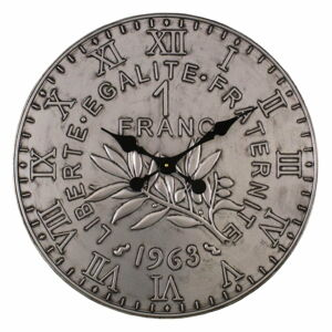 Nástěnné hodiny ve stříbrné barvě Antic Line, ø 60 cm