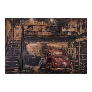 Dekorativní kovová cedule Antic Line Garage Voiture Rouge, 120 x 80 cm