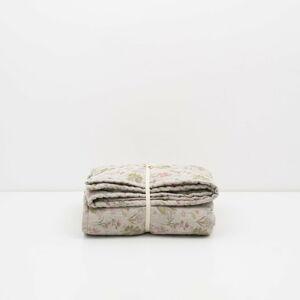 Dětská béžová lněná deka Linen Tales Botany,100x140cm