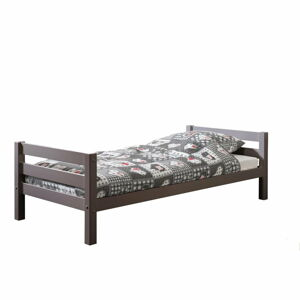 Šedá dětská postel Vipack Pino, 90x200cm