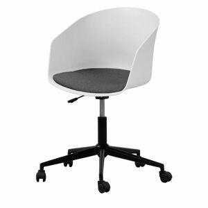 Bílá kancelářská židle na kolečkách Interstil MOON