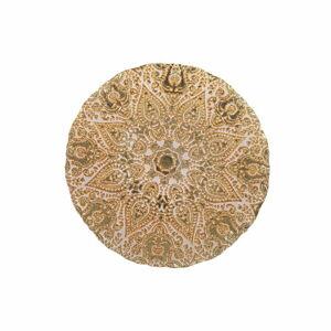 Skleněný talíř v bílo-zlaté barvě Villa d'Este Oro,ø32cm