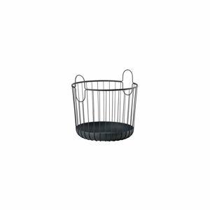 Černý kovový úložný košík Zone Inu,ø40,6cm