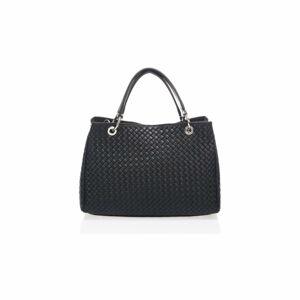 Černá kožená kabelka Massimo Castelli Alessandra
