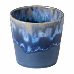 Bílo-modrý kameninový šálek na espresso Costa Nova, 200 ml