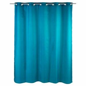 Petrolejově modrý sprchový závěs Wenko Comfort Flex, 180x200cm