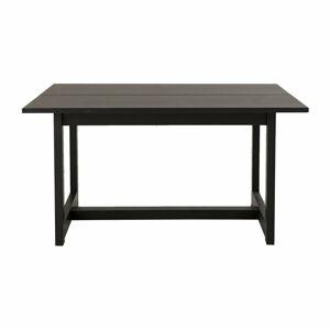 Černý odkládací stolek z dubového dřeva Canett Binley, 120 x 75 cm
