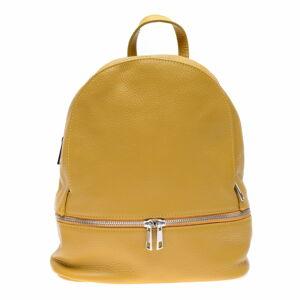 Žlutý kožený batoh na zip Anna Luchini