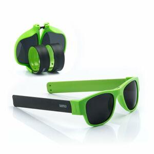 Zeleno-černé sluneční srolovatelné brýle InnovaGoods Sunfold AC6