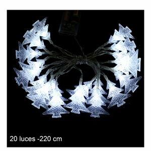 Bílý světelný LED řetěz Unimasa Pino, 20 světýlek